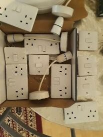 Electric light switches plugs sockets roses blank plates