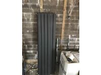 3 x Anthracite central heating radiators, excellent condition, 1 double, 2 single