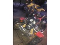 2x quadbikes 250cc & 170cc (quadzilla & barossa)