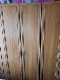 2 matching wooden wardrobes
