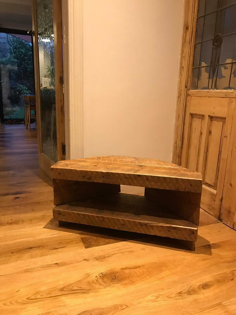 Solid Reclaimed Wood Corner Tv Stand In Newcastle Tyne And Wear
