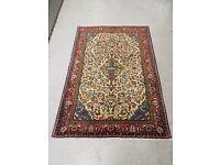 Hand-Woven Persian Sarouk Runner Rug Carpet 155x105cm (5'x3') 1990-2000