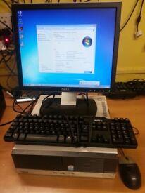 Fuji Esprimo E5710 ATI,intel Dual core,80GB Harddisk,1GB RAM,windows 7,17'' Monitor,Keyboard,Mouse.