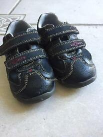 Clarkes Sz 6 boys LIGHTS blue shoes and TU red shoes