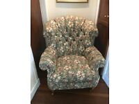 Beautiful button back chair newly upholstered