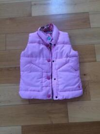 Joules Girls Pink Gilet size 6