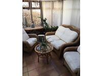 Sofa and table conservatory furniture