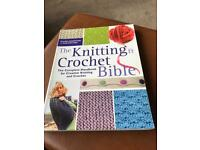 Lovely big knitting and crocheting Bible