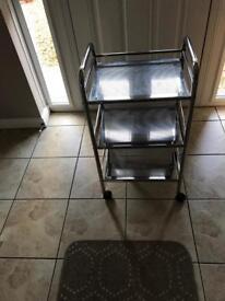 3 tier chrome bathroom trolley