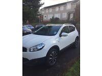 2011 Nissan Qashqai Ntec White. 1.6 Petrol