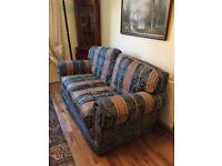 3 seater sofa with arm chair