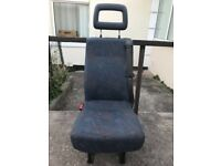 Ford transit seat with fitted seatbelt