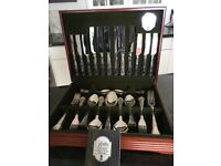 GEORGE BUTLER Sheffield Silver Service 44 Piece Canteen of Cutlery
