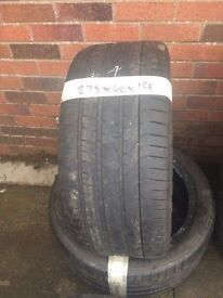 275/40/19 quality part worn tyres