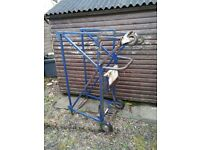 Outboard transporter stand