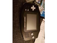 Nintendo Game Boy Advance Black Handheld System Console + 2 games sonic & Mario