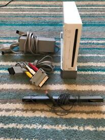 Nintendo Wii console,band hero, babysitting mama, games