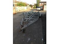 4 Wheel, braked boat trailer
