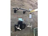 Pull up bar and dip station