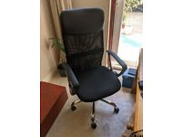 Brand new black office chair with lumbar support