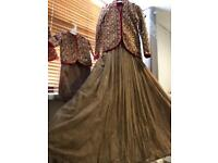 Asian Indian wedding party prom Long gown for adult and kids