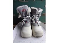 Khombu Childrens Silver Snow Boots UK Size 2