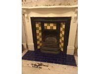 White wooden mantlepiece / fire surround