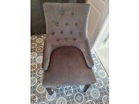 3 x knocker grey dining chairs