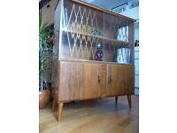 Mid Century Vintage Retro Display Cabinet / Bookcase / Sideboard , Danish Scandinavian style