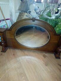 Vintage dresser/fireplace mirror