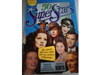 50 Super Stars Large Poster Book containing over 130 pages information and pictures