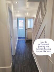 £15/hour Painting, flat pack laminate flooring