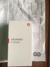 Huawei P Smart - Brand New/ Sealed - Black - 32gb - on EE - Free Flip Case + Receipt