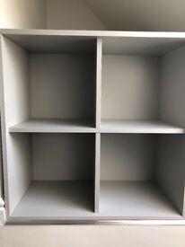 Ikea EKET 4 cube storage unit light grey