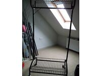 Clothes Rail with Shelves