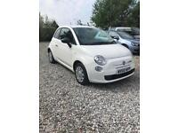 White 2010 Fiat 500 1.2L POP, low millage, full service history