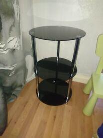 Black glass caffee table