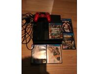 playstation 4 with 10 games and 1TB portable hard drive