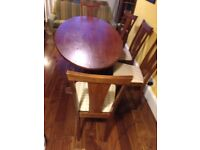 8/10 Seat dining table in art deco style
