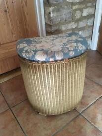 "Lloyd Loom ""Lusty"" Laundry type basket - well used"