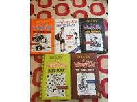 Diary of a Wimpy Kid Hard Back books - excellent condition