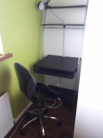 Wall desk with desk chair