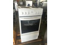 Ex Display White Enamel 4 Ring Electric Cooker (Oven, Grill and Hob) Fully Tested