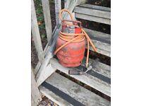 Calor gas bottle hose and blow torch