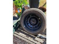 continental 185/55/15 H tyre brand new on rim
