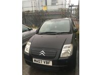 Black Citroen C2, great first car cheap to run and insure, Mot due 2018 and had full service 2016