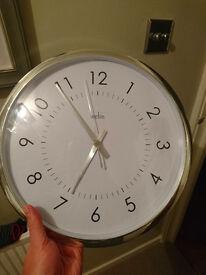 Acctim 21492 Yoko Wall Clock, Silver
