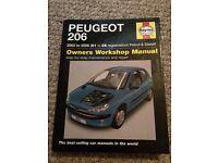 Peugeot 206 Haynes manual 2002-2006