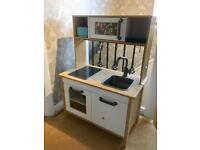 Ikea children's kitchen. Wooden toy play kitchen