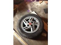 4 Escort xr3 4xdog leg pattern wheel do with a clean up but really worth doing and good tyres